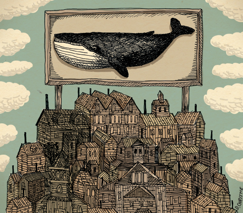 Nantucket_Whale_Town_Strange_City_Tall_Illustration_Drawing_BY_Seattle_Artist_Drew_Christie